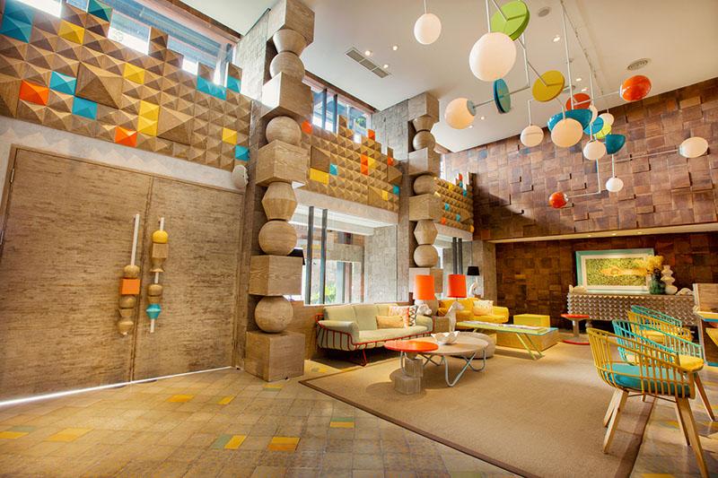 Lobi hotel yang kreatif
